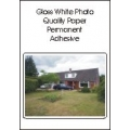 Gloss white photo quality paper, perm adhesive