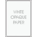 White Opaque Paper - Permanent Adhesive